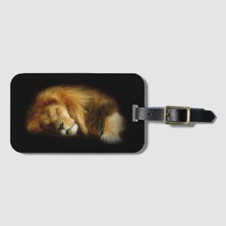 Sleeping Lion Luggage Tag