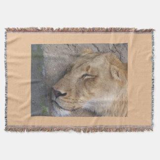 Sleeping Lioness Throw Blanket