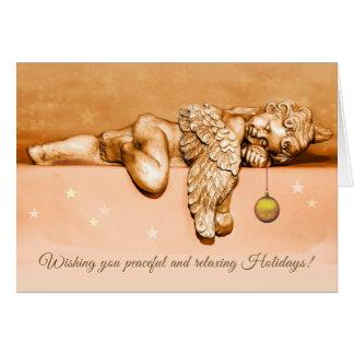 Sleeping Little Holiday Angel Card