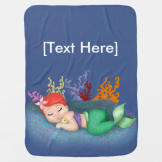 Sleeping Merbaby Baby Blanket