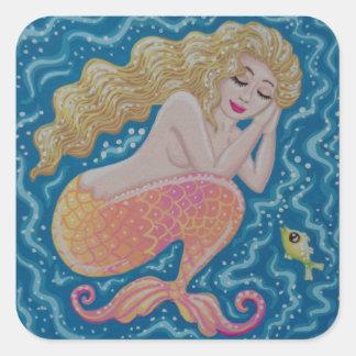 Sleeping Mermaid by Soozie Wray Square Sticker