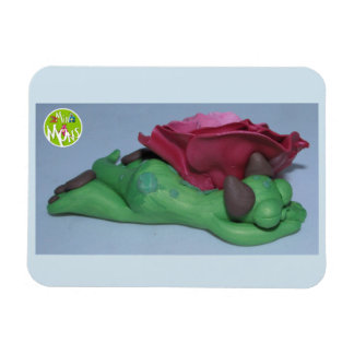 Sleeping Mon Under Rose Magnet
