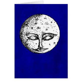 Sleeping Moon on Intense Blue Card