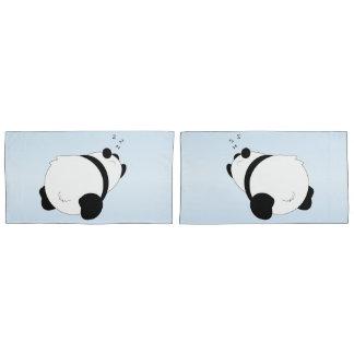 Sleeping Panda Blue Pillowcase