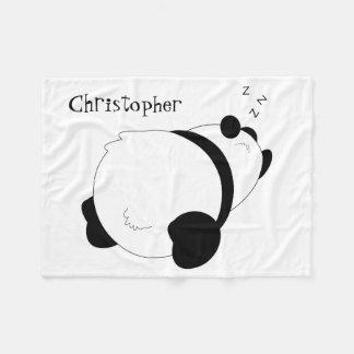 Sleeping Panda Personalized Fleece Blanket