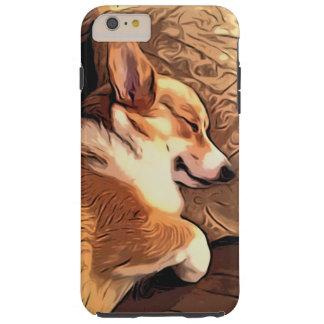 Sleeping Pembroke Welsh Corgi dog Tough iPhone 6 Plus Case