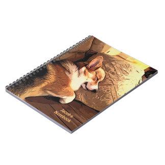 Sleeping Pembroke Welsh Corgi Spiral Notebook