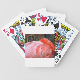 Sleeping Pink Flamingo Bicycle Playing Cards