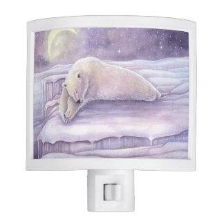 Sleeping Polar Bear Fantasy Wildlife Artwork Sweet Nite Light