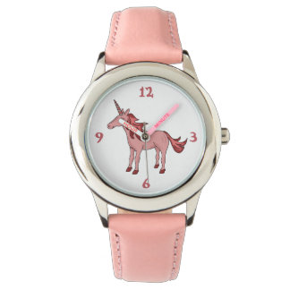Sleeping Pretty Pink Unicorn Wristwatches