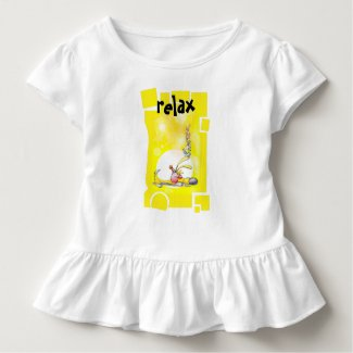 """Sleeping Puppy"" fun colourful relax top. Toddler T-shirt"