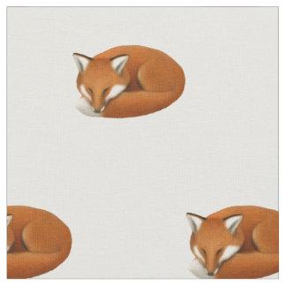 Sleeping Red Fox Wildlife Cotton Fabric