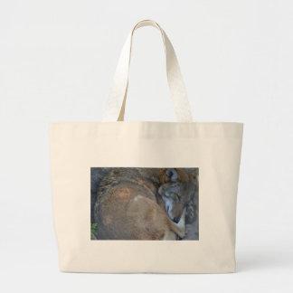 Sleeping Red Wolf Large Tote Bag