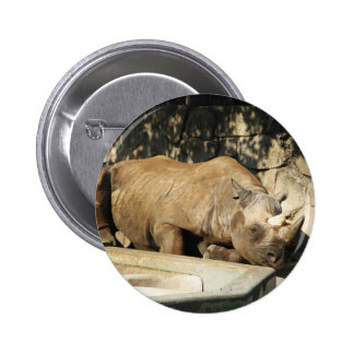 Sleeping Rhino 2 Inch Round Button