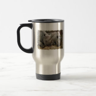 Sleeping Rhinos Travel Mug