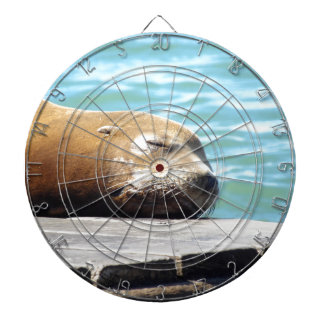 SLEEPING SEA LION DARTBOARD