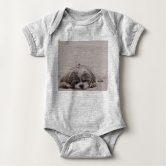 Sleeping Shih tzu Baby Bodysuit, Sleeping Dog Baby Bodysuit