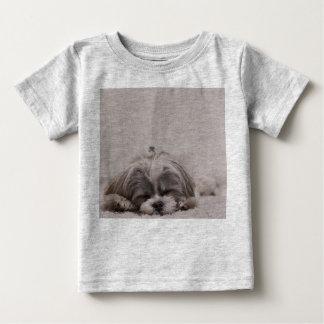 Sleeping Shih tzu Baby Shirt, Sleeping Dog Baby T-Shirt