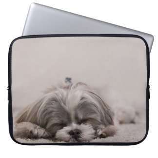 Sleeping Shih tzu Laptop Sleeve, Sleeping Dog Laptop Sleeve
