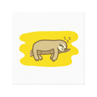 Sleeping Sloth Cavas Design Canvas Print