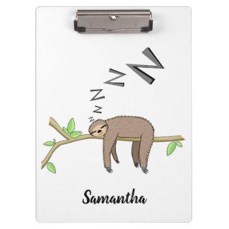 Sleeping sloth clipboard