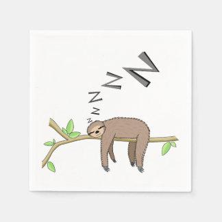 Sleeping sloth disposable napkin