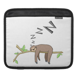 Sleeping sloth iPad sleeve