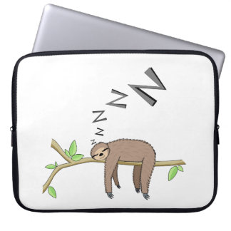 Sleeping sloth laptop sleeve