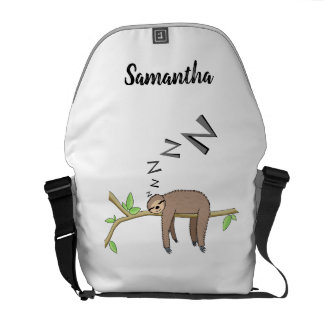 Sleeping sloth messenger bag