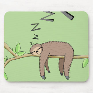 Sleeping sloth mouse pad