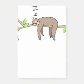Sleeping sloth post-it notes