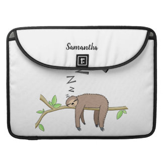 Sleeping sloth sleeve for MacBooks