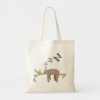 Sleeping sloth tote bag