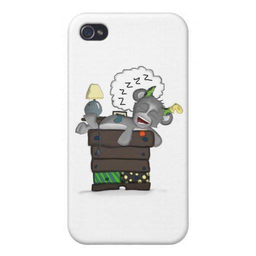 Sleeping Sock Drawer Monster Digital Art iPhone 4 Case