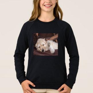 Sleeping Standard Poodle puppy Sweatshirt