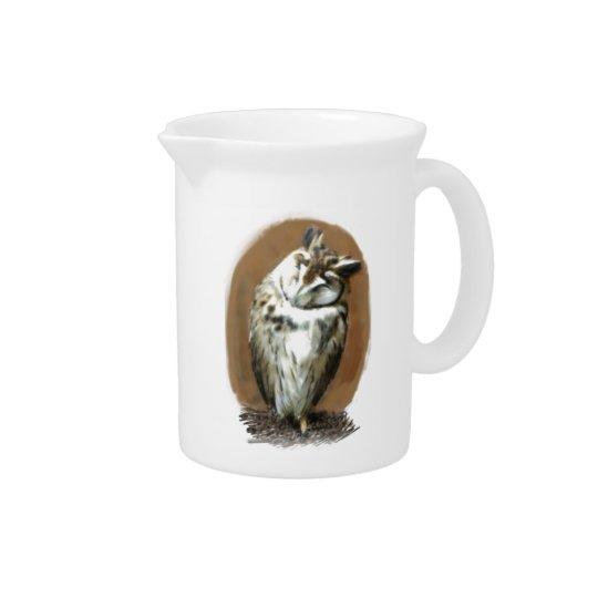 Sleeping Striped owl Pitcher