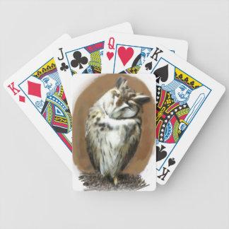 Sleeping Striped owl Poker Deck