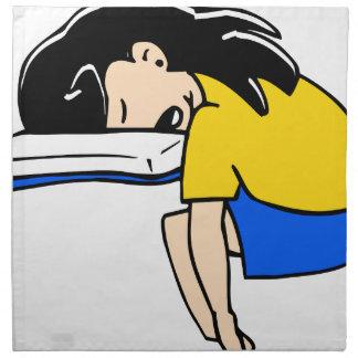 Sleeping Student Napkin