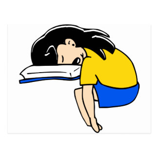 Sleeping Student Postcard