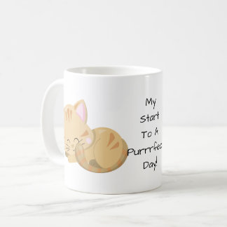 Sleeping Tan Tabby Kitten Coffee Mug