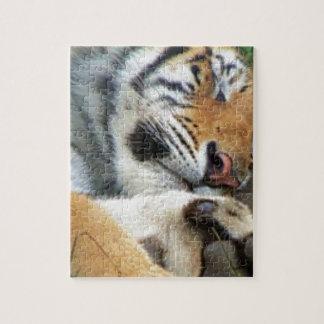 Sleeping Tiger Jigsaw Puzzle