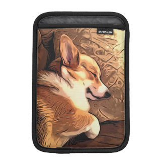 Sleeping Tricolor Welsh Corgi iPad Mini Sleeve