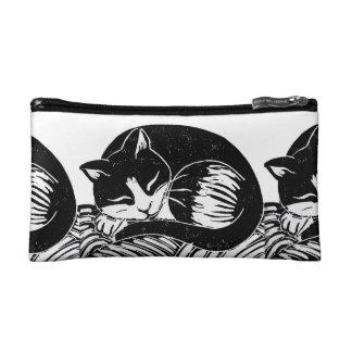 Sleeping Tuxedo Cats Bag Cosmetics Bags