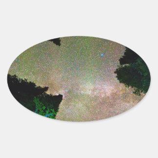 Sleeping Under the  Milky Way Stars Sticker