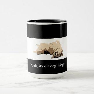 Sleeping Welsh Corgi Mug