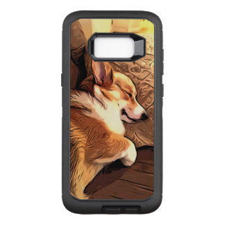 Sleeping Welsh Corgi OtterBox Defender Samsung Galaxy S8+ Case