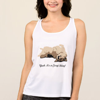 Sleeping Welsh Corgi Tank Top