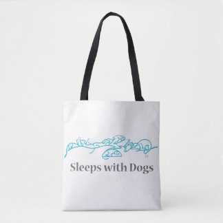 Sleeping With Dogs Tote Bag