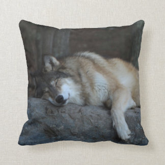 Sleeping Wolf Lodge Pillow