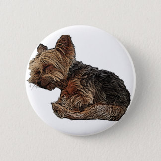 Sleeping Yorkie 2 Inch Round Button